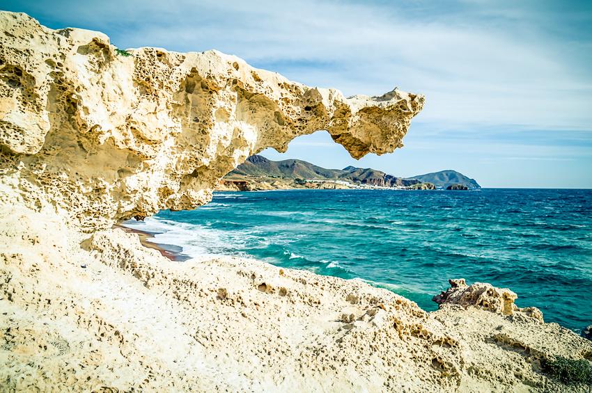 Paradis à Cabo de Gata sur la Costa Almería au sud de l´Espagne