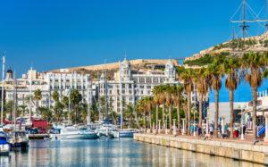 """Port de plaisance """"la Marina"""" d´Alicante sur la Costa Blanca"""