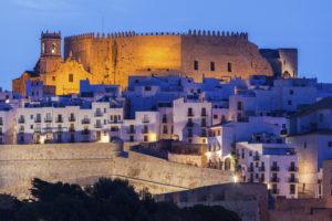 Ville médiévale de Peñiscola sur la Costa Azahar en Espagne