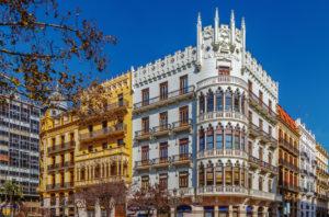 Ville de Valencia au bord de la méditerranée en Espagne