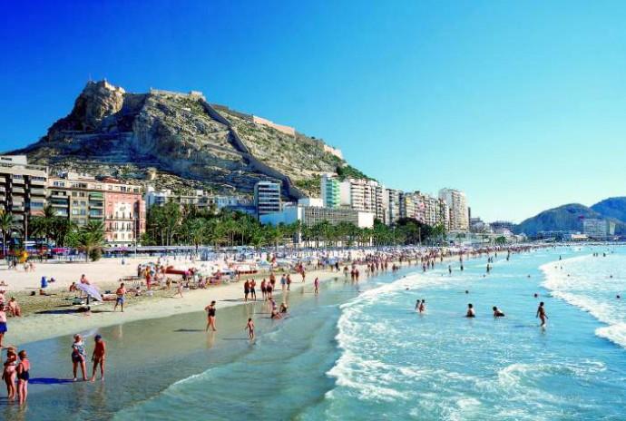 Ville d'Alicante sur Costa Blanca Espagne