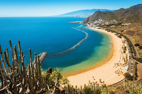 Plage Teresita de Tenerife dans les îles Canaries