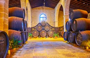 Cava à vin de Jerez en Espagne
