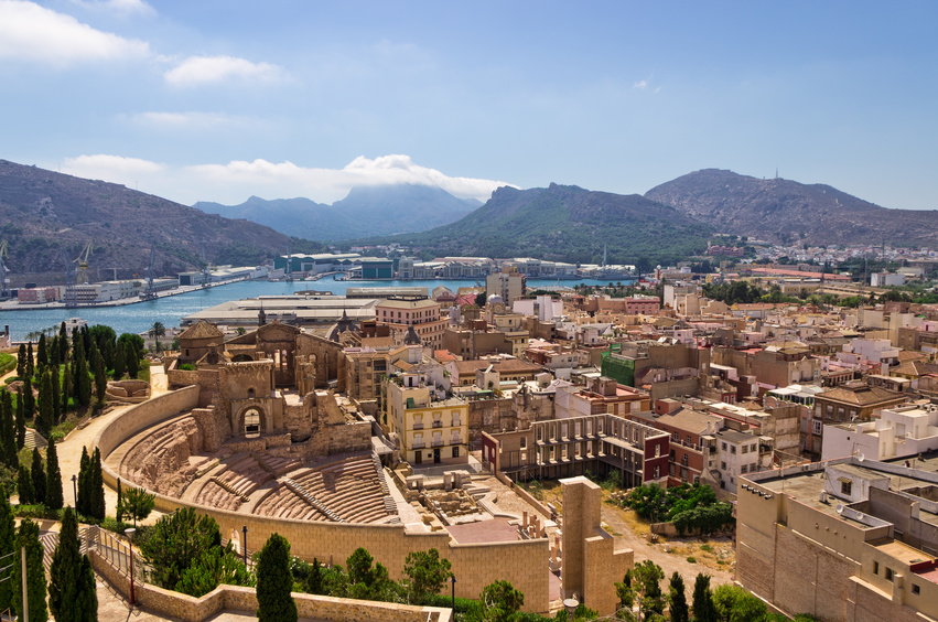 Carthagène ville du sud de l'Espagne