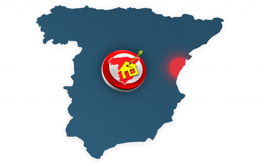 Costa Azahar location sur carte Espagne