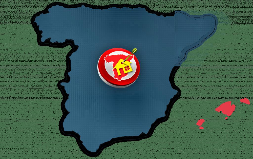 îles Baléares location sur carte Espagne