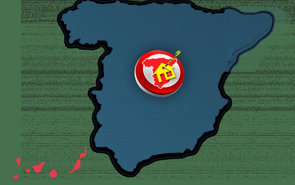 îles Canaries sur carte Espagne